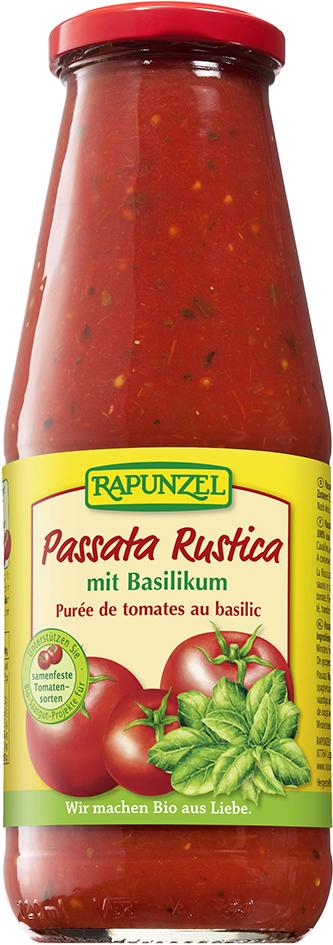 Bio passata RUSTICA s bazalkou 680 g