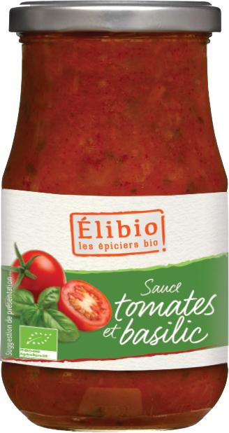 Bio rajčatová omáčka s bazalkou Elibio 300 g