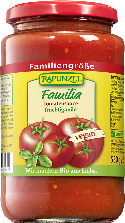 Bio FAMILIA omáčka na těstoviny 550 g