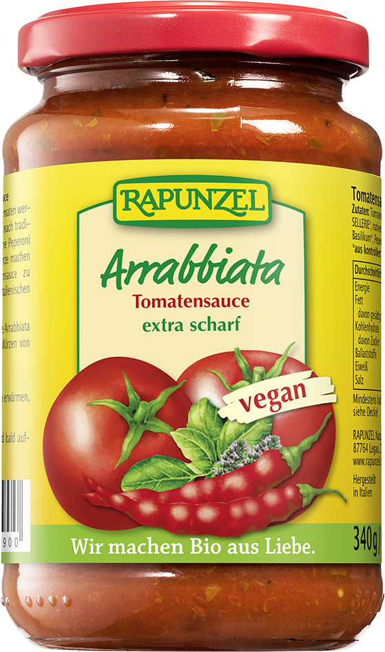 Bio ARRABBIATA omáčka na těstoviny 340 g