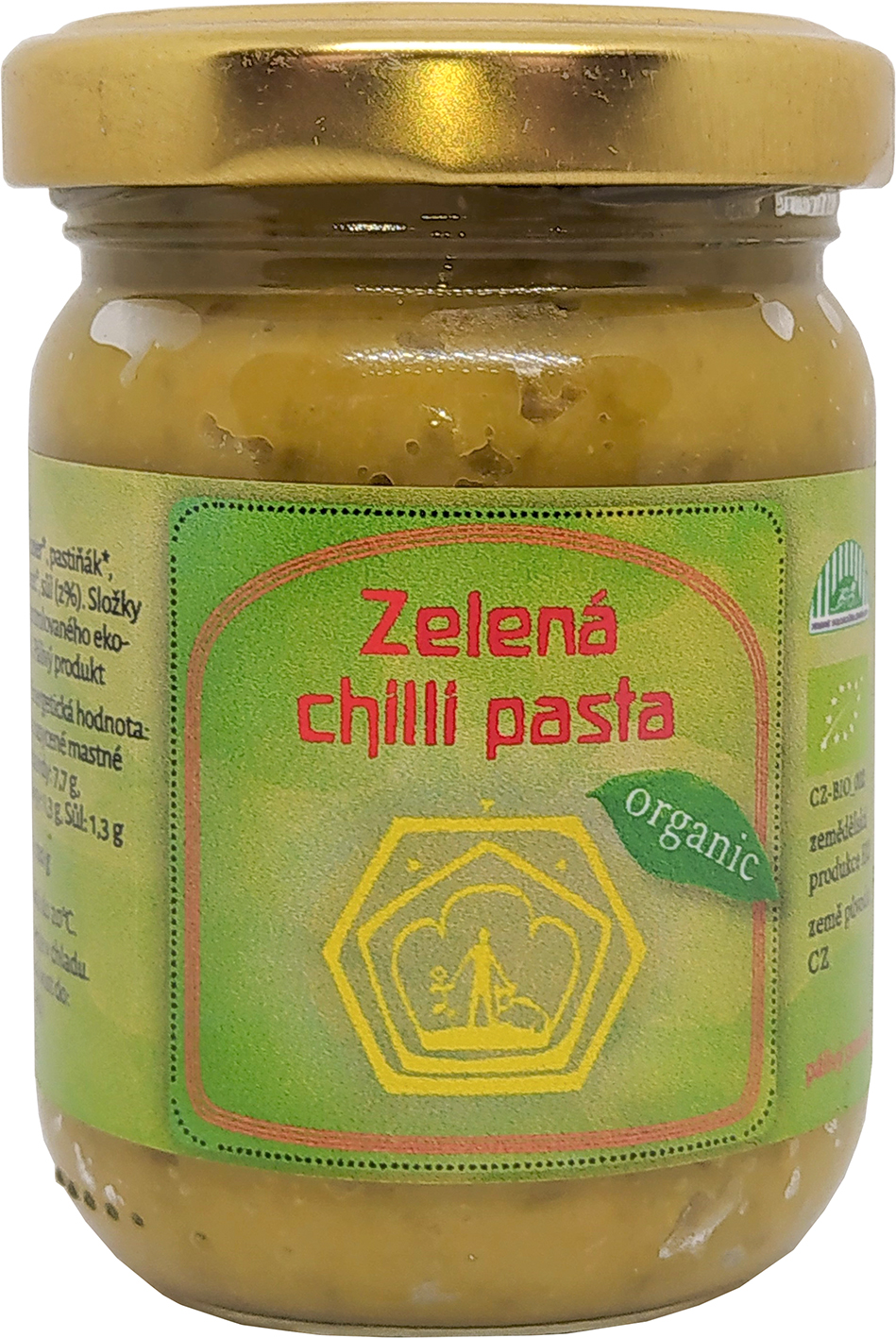 Bio zelená chilli pasta Svobodný statek na soutoku 120 g
