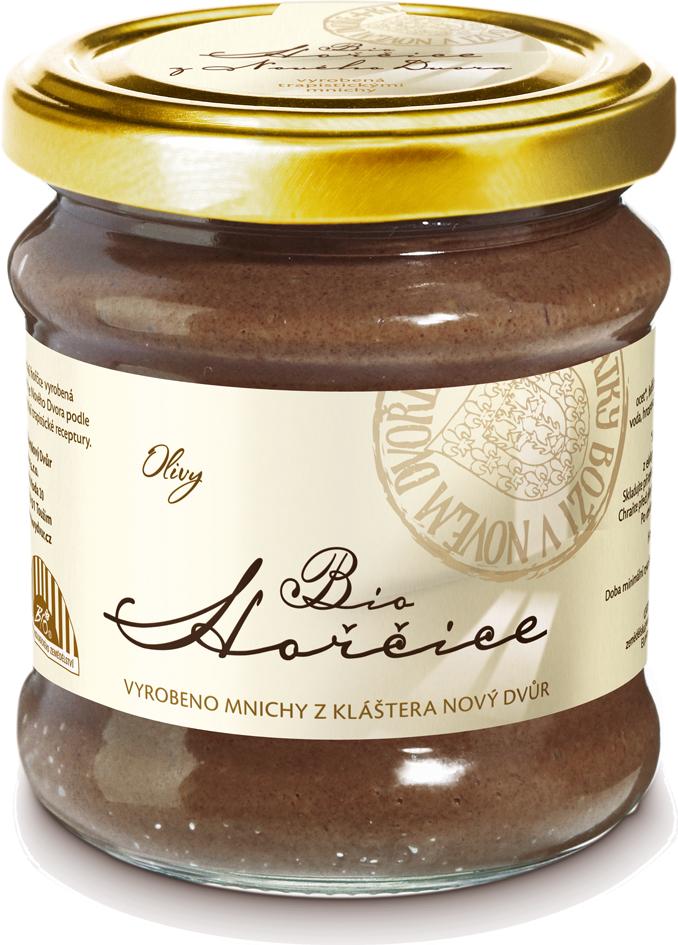 Bio hořčice s olivami 190 g