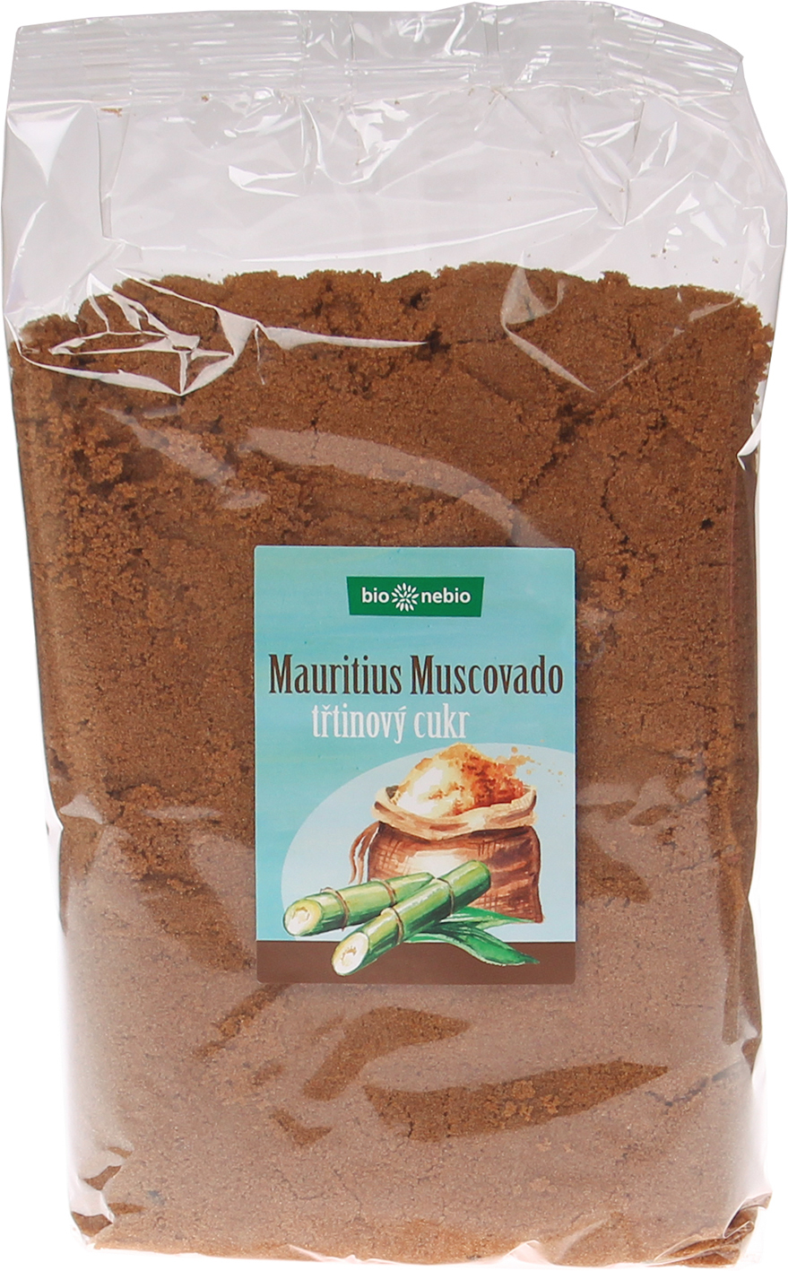 Přírodní třtinový cukr MUSCOVADO bio*nebio 1 kg