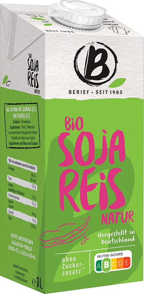 Bio sójovo-rýžový nápoj BERIEF 1 l
