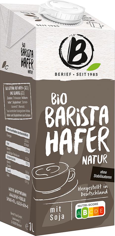 Bio ovesný nápoj Barista BERIEF 1 l