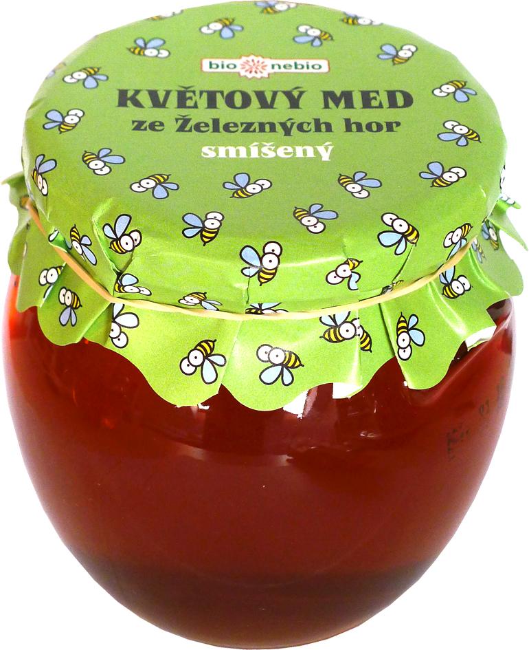Květový med ze Železných hor smíšený bio*nebio 650 g