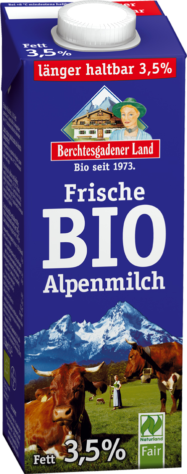 Bio čerstvé alpské mléko plnotučné 1 l