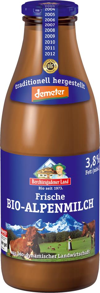 Bio alpské mléko plnotučné SKLO na předobjednávku 1 l