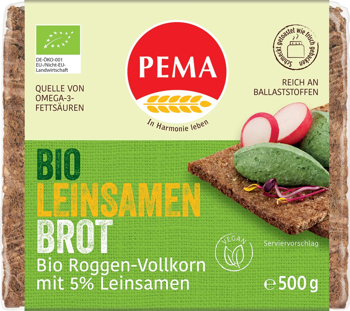 Bio žitný chléb se lněným semínkem PEMA 500 g