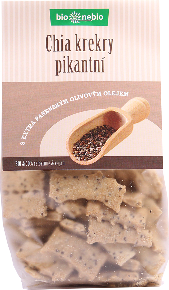 Bio chia krekry pikantní s olivovým olejem bio*nebio 130 g