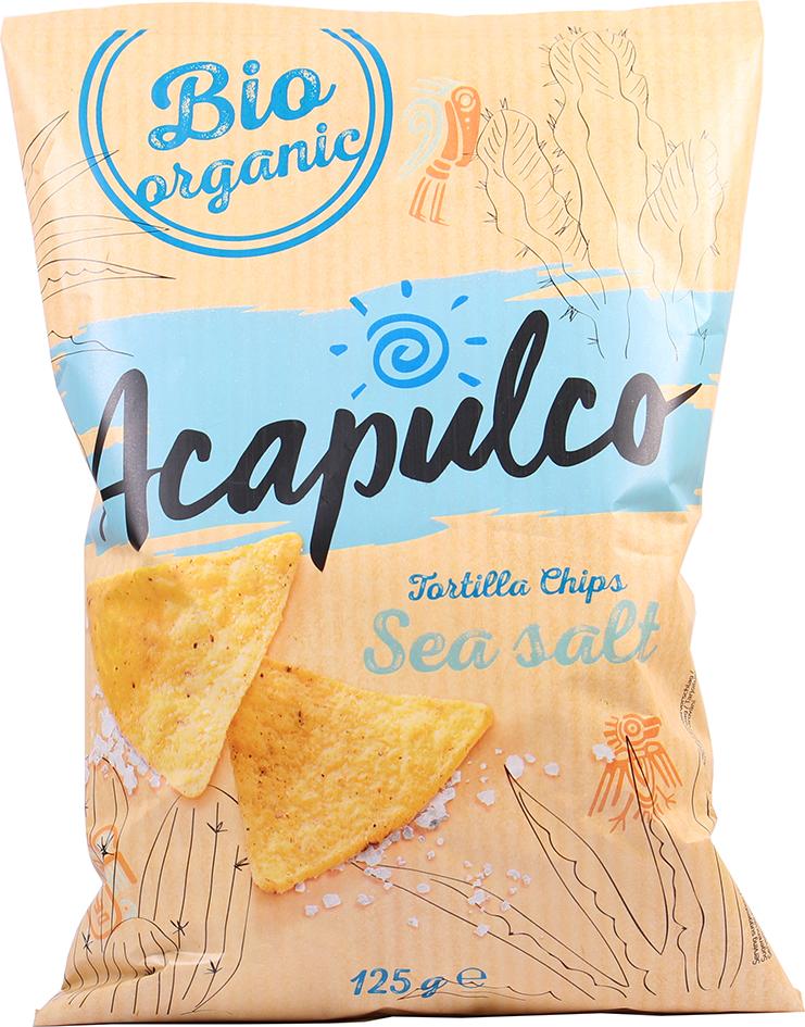 Bio tortilla chipsy mořská sůl 125 g
