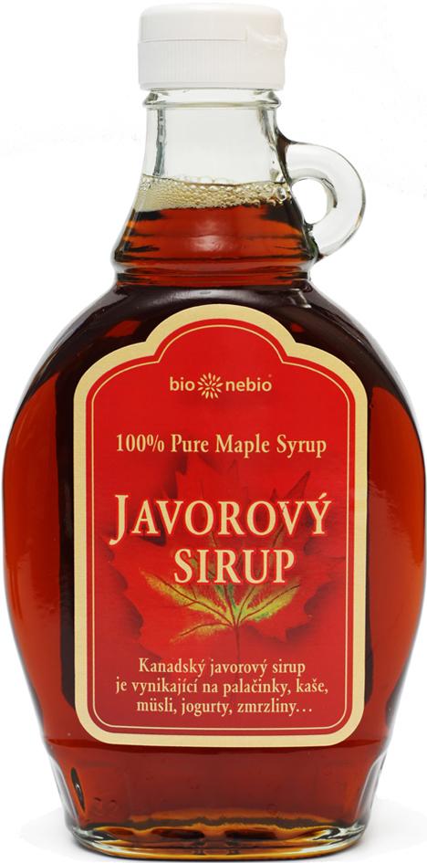 Javorový sirup 100% Grade C bio*nebio 250 ml