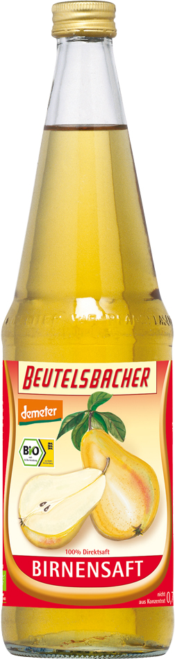 Bio hruškový mošt 100% Beutelsbacher 0,7 l