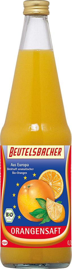 Bio pomerančová šťáva 100% Beutelsbacher 0,7 l