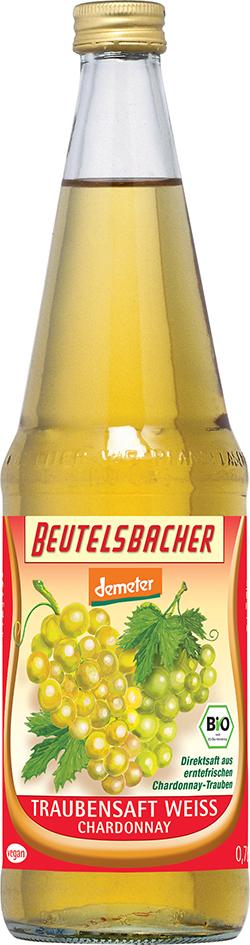 Bio hroznová šťáva bílá 100% Beutelsbacher 0,7 l