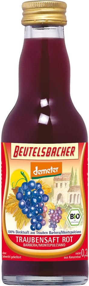 Bio hroznová šťáva červená 100% Beutelsbacher 0,2 l