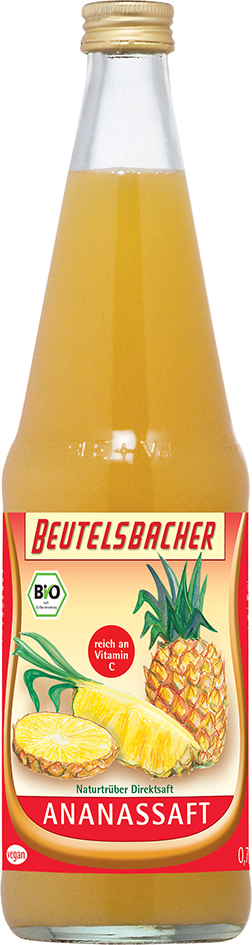 Bio ananasová šťáva 100% Beutelsbacher 0,7 l