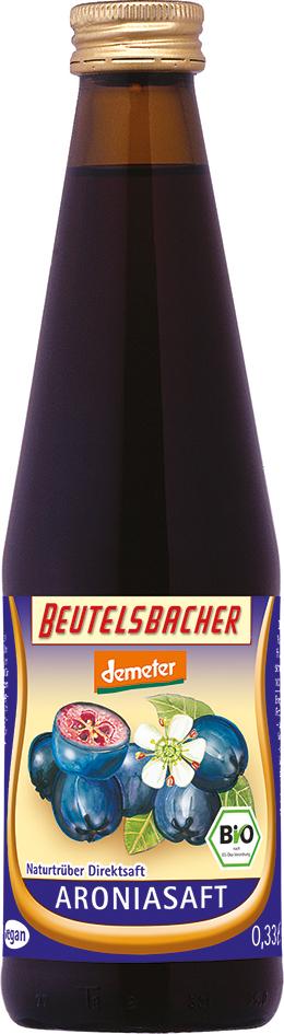 Bio aróniová šťáva 100% Beutelsbacher 0,33 l