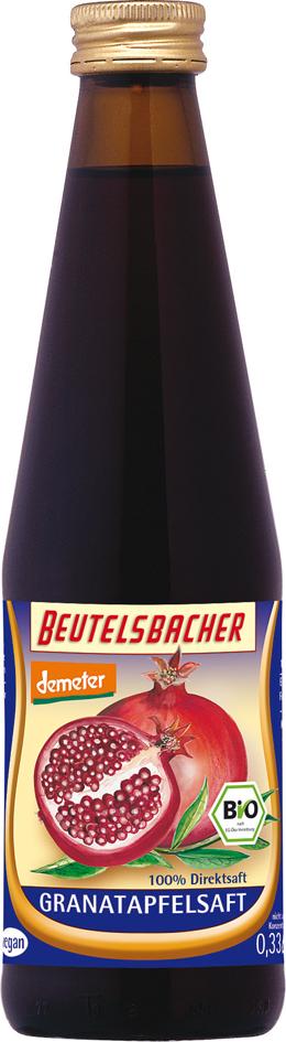 Bio granátová šťáva 100% Beutelsbacher 0,33 l
