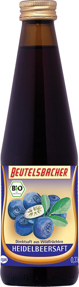 Bio borůvková šťáva 100% Beutelsbacher 0,33 l