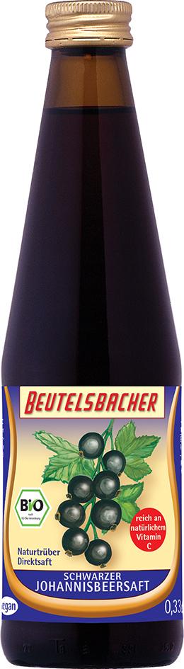 Bio šťáva z černého rybízu 100% Beutelsbacher 0,33 l