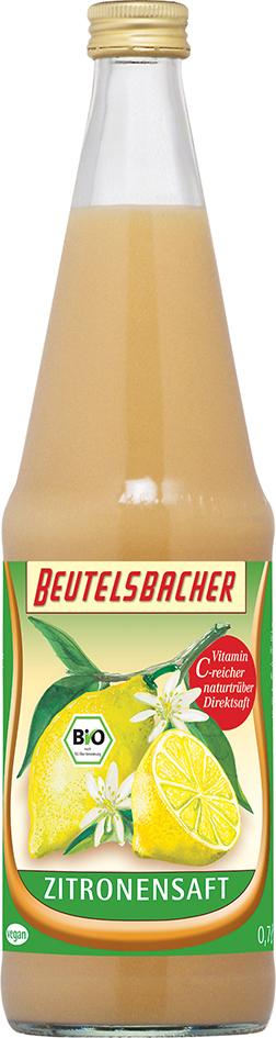 Bio citrónová šťáva 100% Beutelsbacher 0,7 l