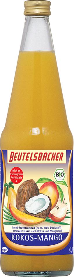 Bio kokosovo-mangový nápoj Beutelsbacher 0,7 l
