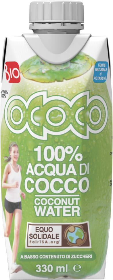 Bio kokosová voda 100% OCOCO 330 ml