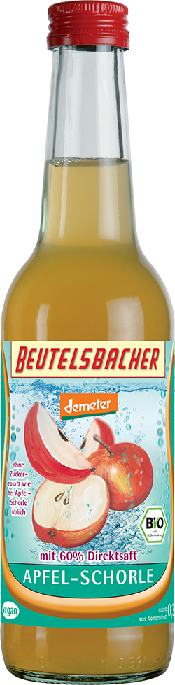 Bio jablečné schorle Beutelsbacher 0,33 l