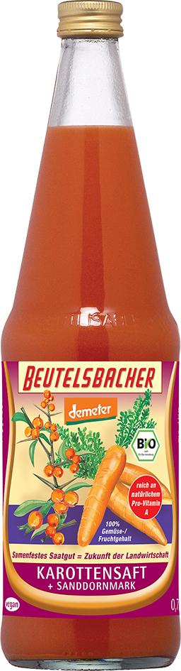 Bio mrkvovo-rakytníková šťáva Beutelsbacher 0,7 l