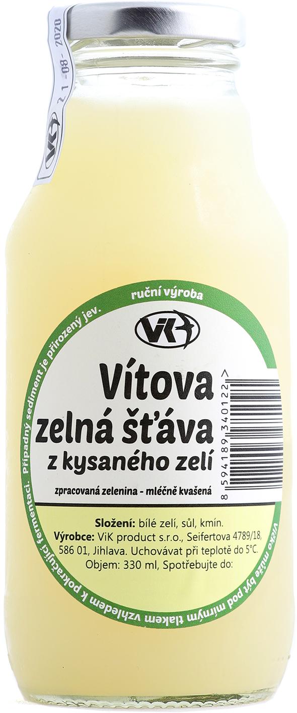 Vítova zelná šťáva z kysaného zelí 330 ml