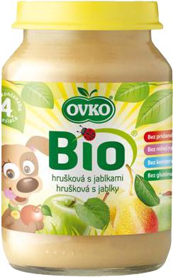Bio hrušková s jablky OVKO 190 g