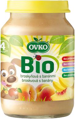 Bio broskvová s banány OVKO 190 g