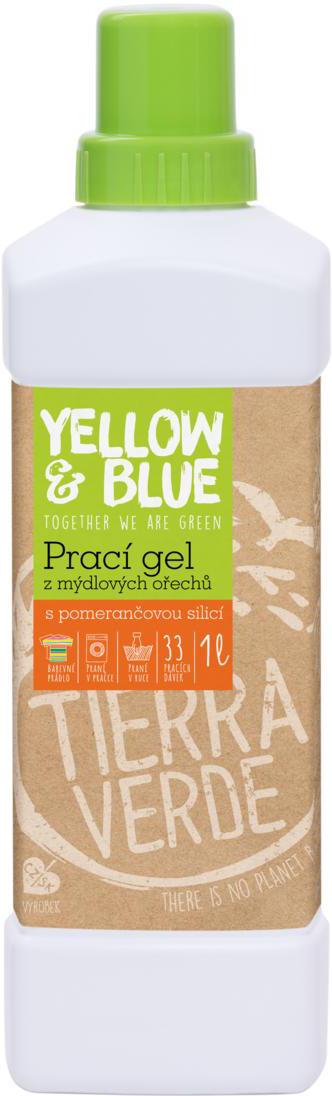 Prací gel z bio mýdlových ořechů pomeranč 1 l