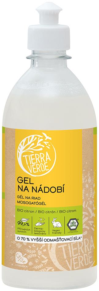 Gel na nádobí s citronovou silicí Tierra Verde 500 ml