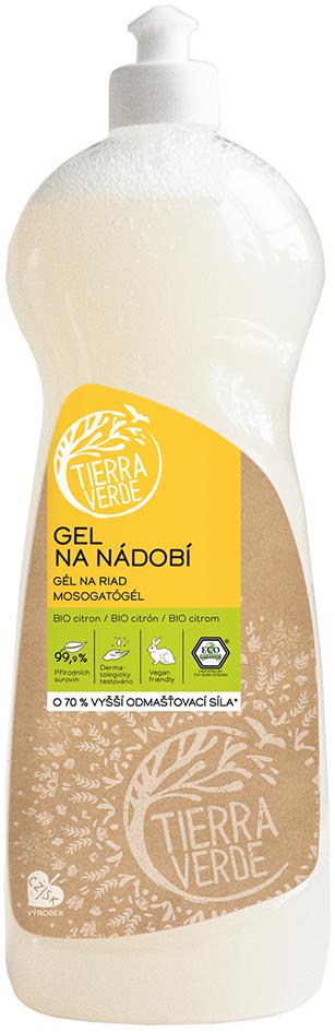 Gel na nádobí s citronovou silicí Tierra Verde 1 l