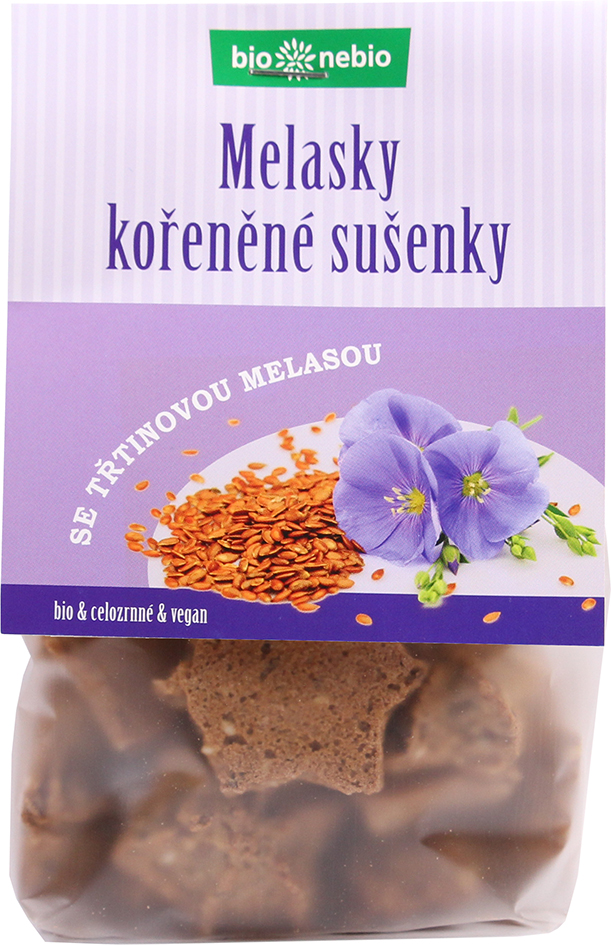 Bio MELASKY - celozrnné sušenky s melasou 130 g