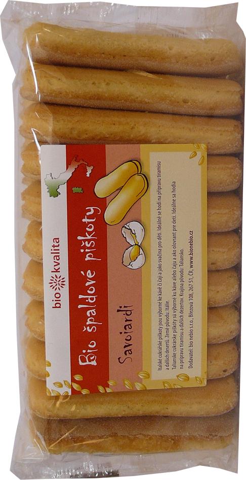 Bio špaldové piškoty cukrářské Savoiardi 100 g