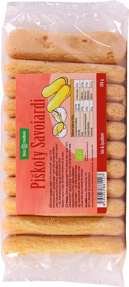 Bio špaldové piškoty cukrářské Savoiardi bio*nebio 100 g