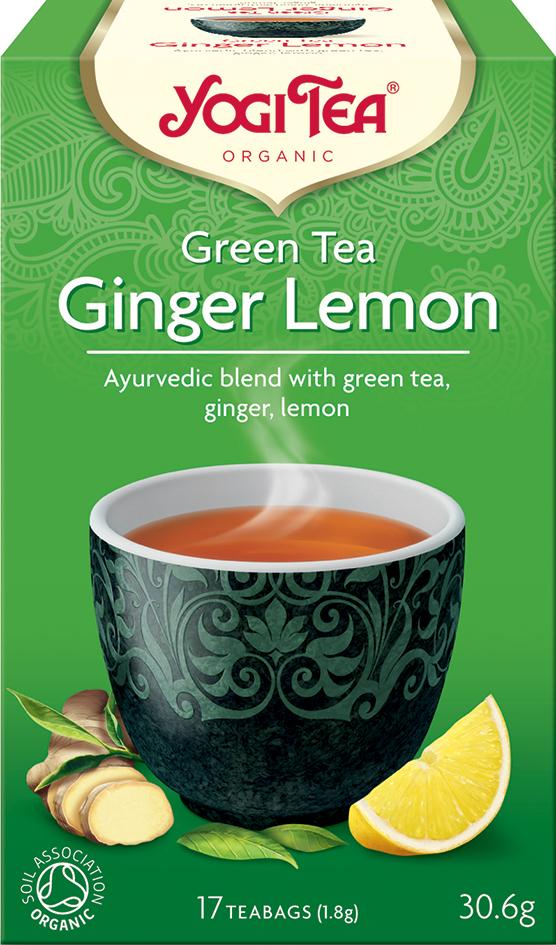 Bio Zelený čaj Zázvor Citrón Yogi Tea 17 x 1,8 g