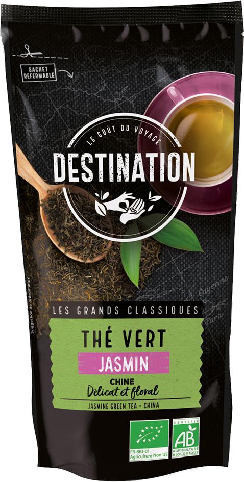 Bio zelený čaj jasmínový sypaný DESTINATION 100 g