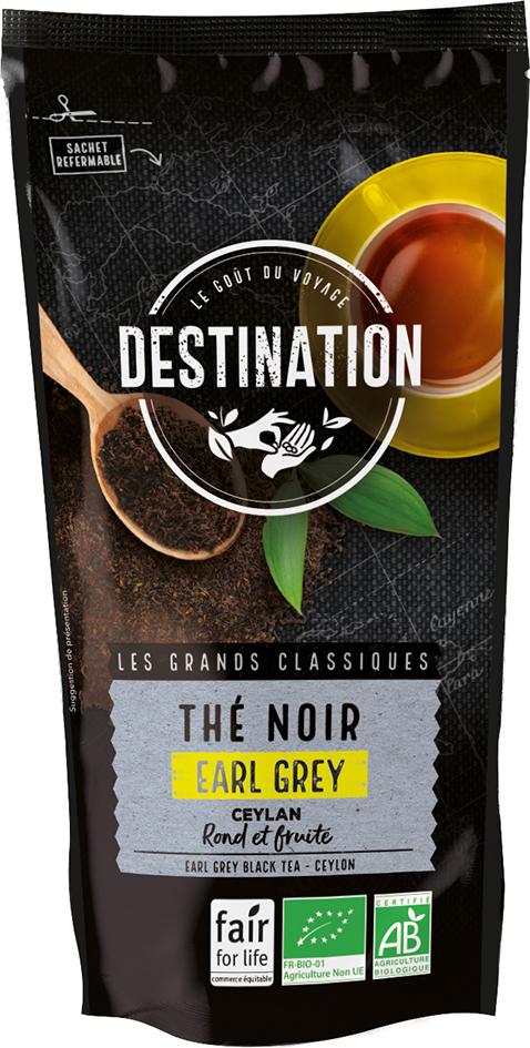 Bio černý čaj Earl Grey Ceylon DESTINATION 100 g