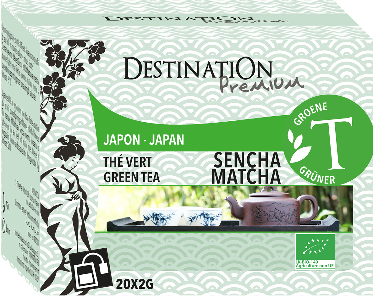 Bio zelený čaj Sencha Matcha 20 x 2 g