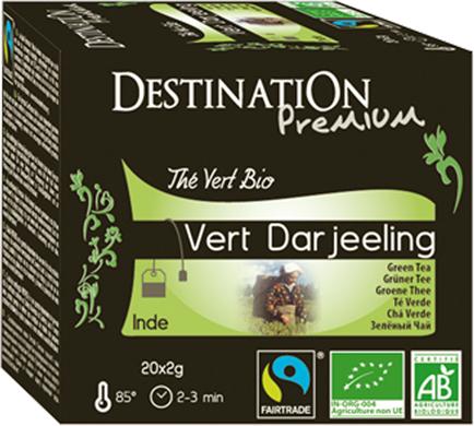 Bio zelený čaj Darjeeling 20 x 2 g