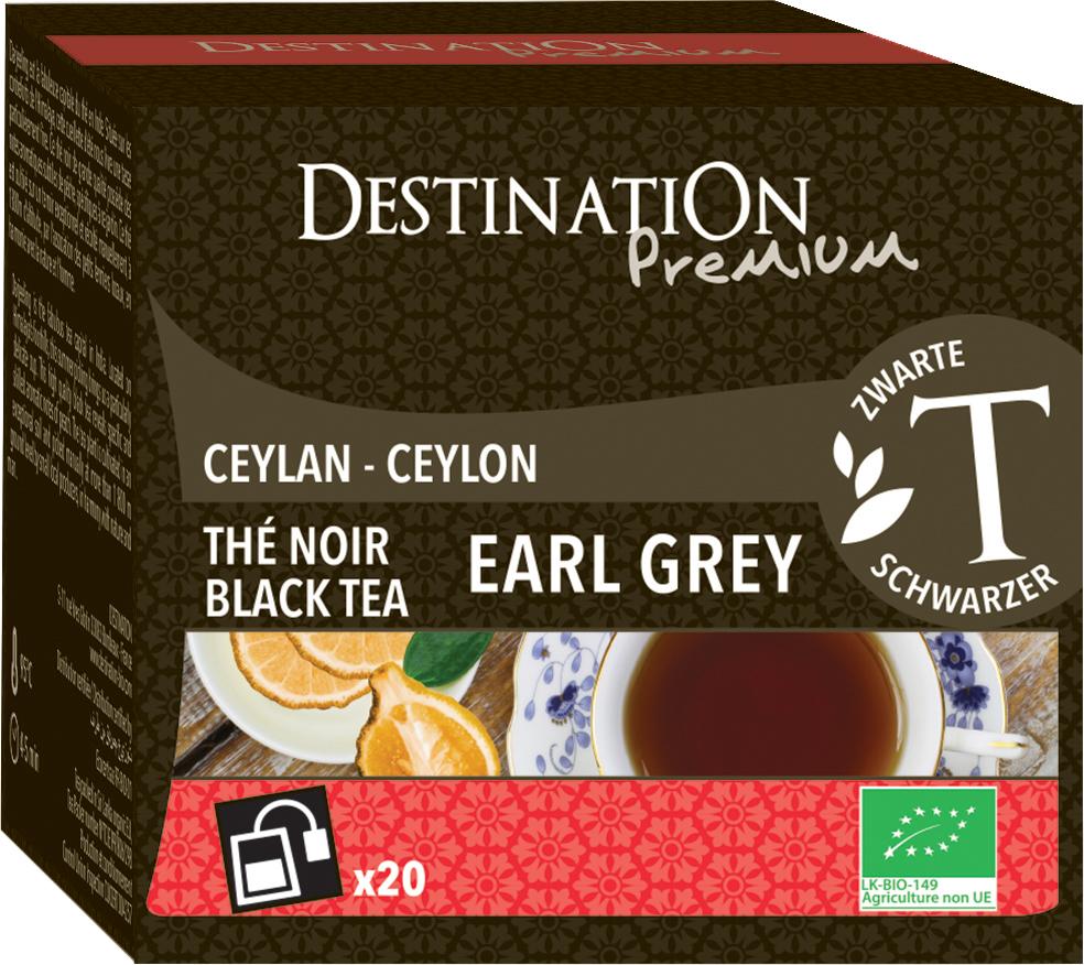 Bio černý čaj Earl Grey 20 x 2 g