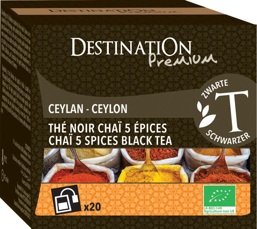 Bio černý čaj Pět druhů koření 20 x 1,5 g