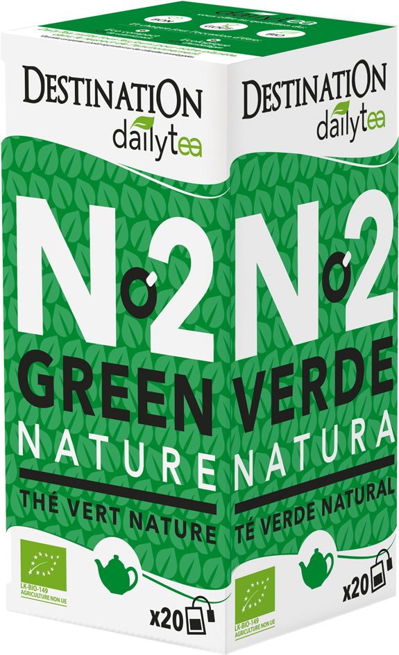 Bio zelený čaj Natural Daily Tea 20 x 2 g