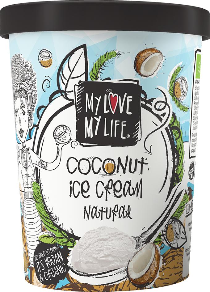 Bio kokosová zmrzlina Natural vegan My Love My Life 500 ml