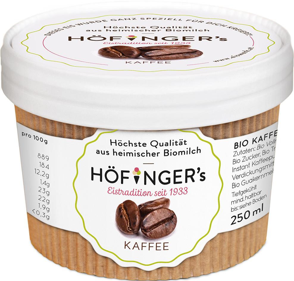 Zmrzlina smetanová kávová 250ml BIO