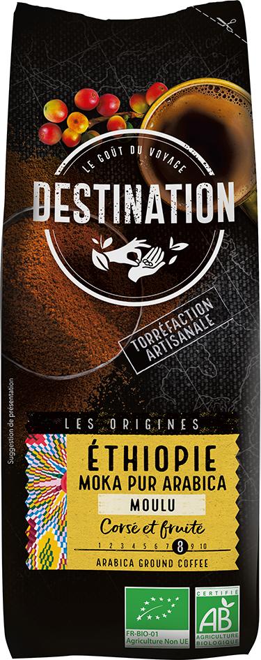 Bio káva mletá Etiopie Destination 250 g